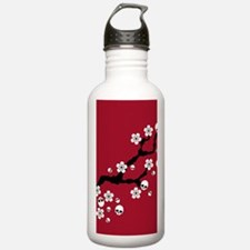Gothic Cherry Blossoms Water Bottle