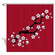 Gothic Cherry Blossoms Shower Curtain