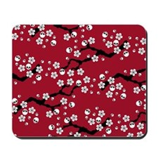 Gothic Cherry Blossoms Pattern Mousepad