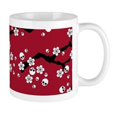 Gothic Cherry Blossoms Pattern Mugs