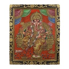 HINDU GOD GANESH VINTAGE Throw Blanket