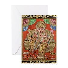 HINDU GOD GANESH VINTAGE Greeting Card