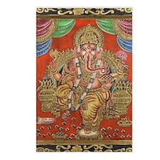 HINDU GOD GANESH VINTAGE Postcards (Package of 8)