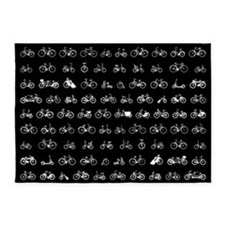 Bicycles Pattern 5'x7'Area Rug