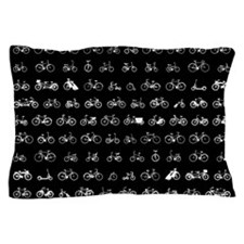 Bicycles Pattern Pillow Case