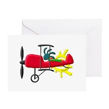 Stunt Pilot Greeting Card