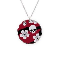 Gothic Cherry Blossoms Necklace