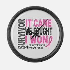 Breast Cancer Survivor 2 Large Wall Clock