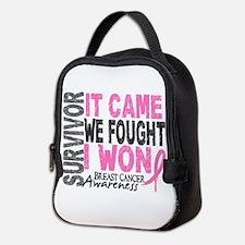 Breast Cancer Survivor 2 Neoprene Lunch Bag