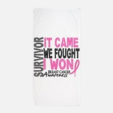 Breast Cancer Survivor 2 Beach Towel