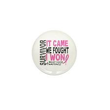 Breast Cancer Survivor 2 Mini Button (10 pack)