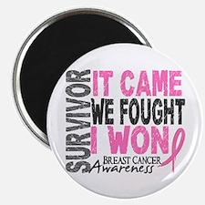 """Breast Cancer Survivor 2 2.25"""" Magnet (100 pack)"""