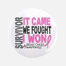 """Breast Cancer Survivor 2 3.5"""" Button (100 pack)"""