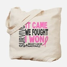 Breast Cancer Survivor 2 Tote Bag