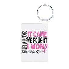 Breast Cancer Survivor 2 Keychains