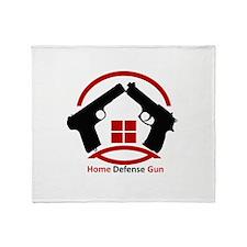Home Defense Gun Throw Blanket