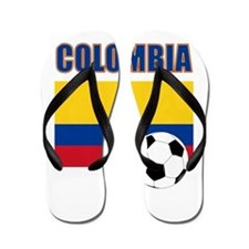 Colombia futbol soccer Flip Flops