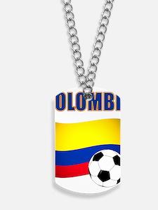 Colombia futbol soccer Dog Tags