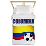 Colombia soccer Twin Duvet Covers