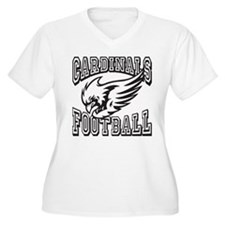 Cardinals Football Plus Size T-Shirt