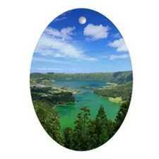 Sete Cidades lakes Ornament (Oval)