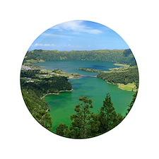 """Sete Cidades lakes 3.5"""" Button"""