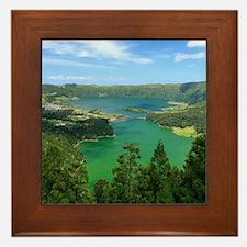 Sete Cidades lakes Framed Tile