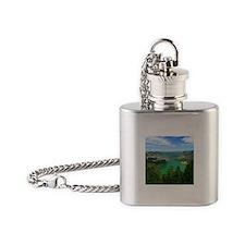 Sete Cidades lakes Flask Necklace