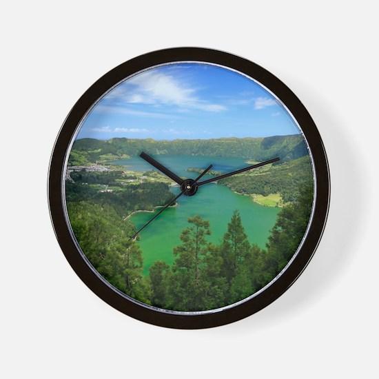 Sete Cidades lakes Wall Clock