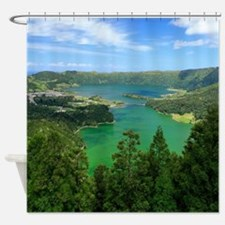 Sete Cidades lakes Shower Curtain