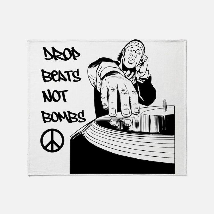 Drop beats not bombs Throw Blanket
