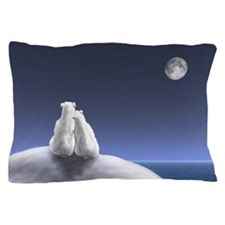 Polar Bears By Moonlight Pillow Case