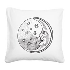 Man in the Moon Square Canvas Pillow