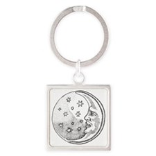 Man in the Moon Square Keychain