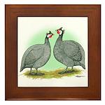 French Guineafowl Framed Tile