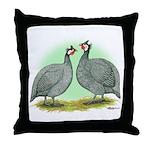 French Guineafowl Throw Pillow
