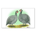 French Guineafowl Rectangle Sticker