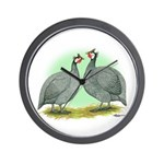 French Guineafowl Wall Clock