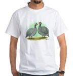 French Guineafowl White T-Shirt