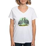 French Guineafowl Women's V-Neck T-Shirt