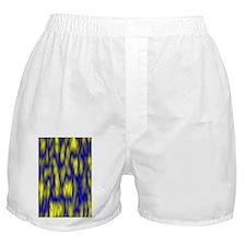 Blue Stucco Wall Yellow Slime Boxer Shorts