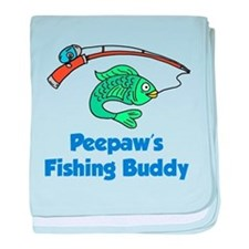 Peepaws Fishing Buddy baby blanket