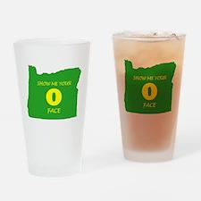 "Oregon ""O"" Face Drinking Glass"