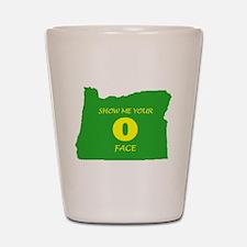 """Oregon """"O"""" Face Shot Glass"""