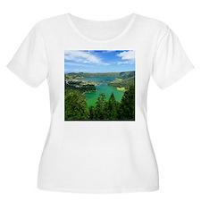 Sete Cidades lakes Plus Size T-Shirt