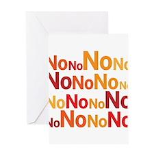 No No No No No Greeting Cards