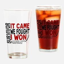 Carcinoid Cancer Survivor 2 Drinking Glass