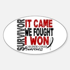 Carcinoid Cancer Survivor 2 Sticker (Oval)