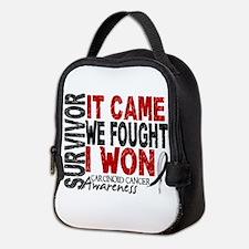 Carcinoid Cancer Survivor 2 Neoprene Lunch Bag