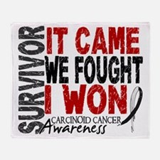 Carcinoid Cancer Survivor 2 Throw Blanket